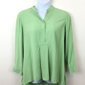 Beautiful Lime Green Popover Tunic Size 1XL Modal